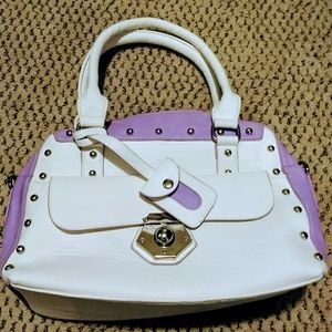 NWOT White & lavender hand and crossbody bag